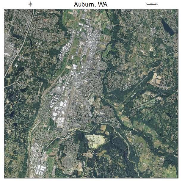 Auburn, WA air photo map