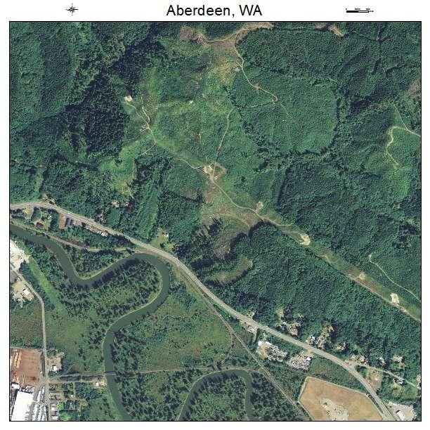 Aberdeen, Washington aerial imagery detail