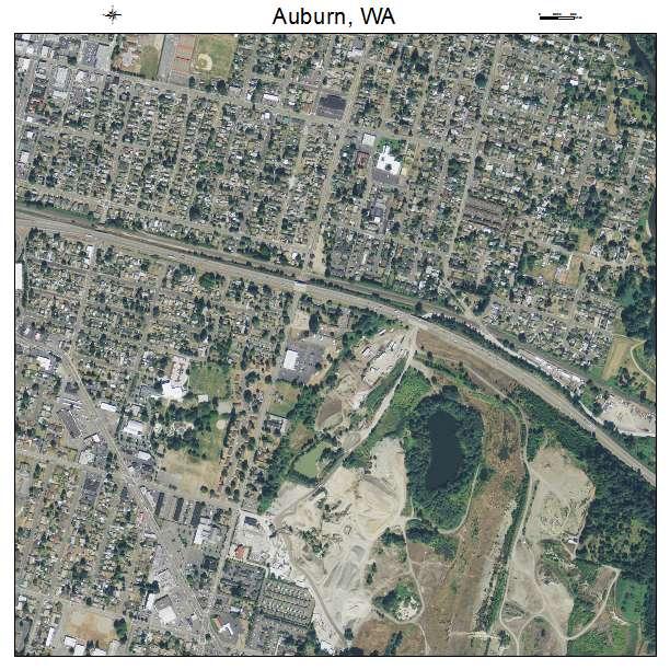 Auburn, Washington aerial imagery detail