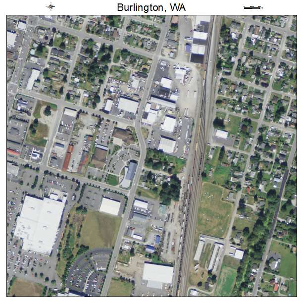 Aerial Photography Map Of Burlington WA Washington