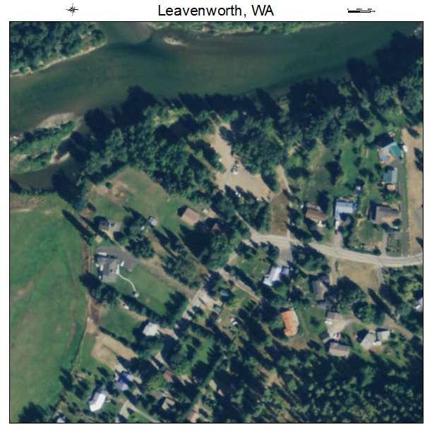Leavenworth, Washington aerial imagery detail