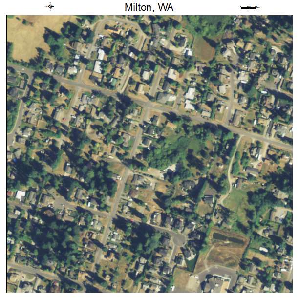 Milton, Washington aerial imagery detail