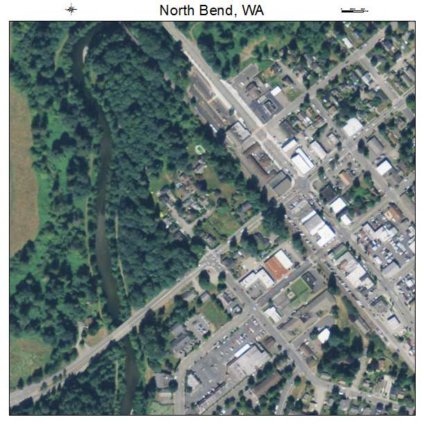 Aerial Photography Map Of North Bend WA Washington