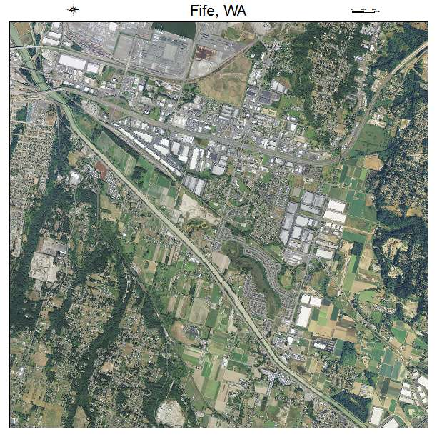 Aerial Photography Map of Fife, WA Washington