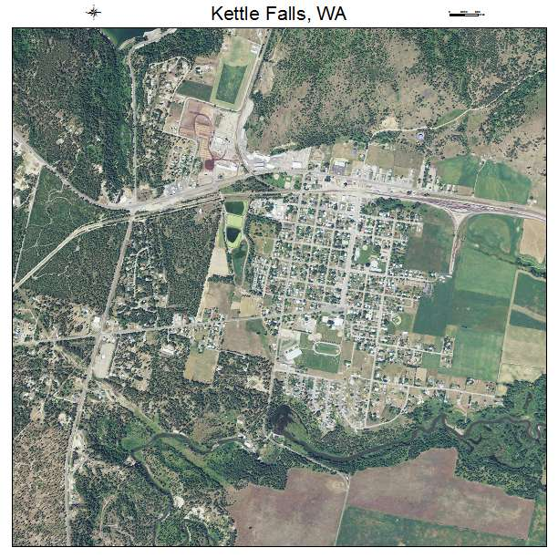 Kettle Falls Washington ~ Aerial photography map of kettle falls wa washington