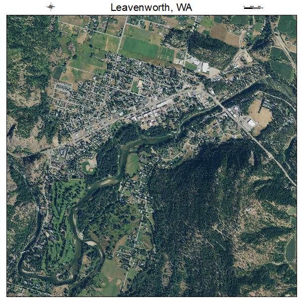 Leavenworth, WA air photo map