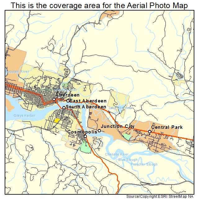 Aberdeen, WA location map