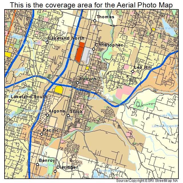 Auburn, WA location map
