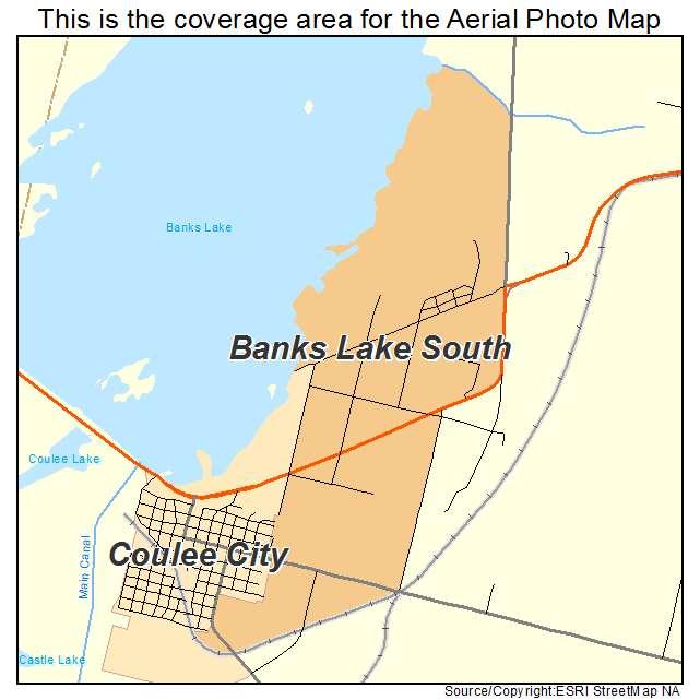 Aerial photography map of banks lake south wa washington for Banks lake fishing