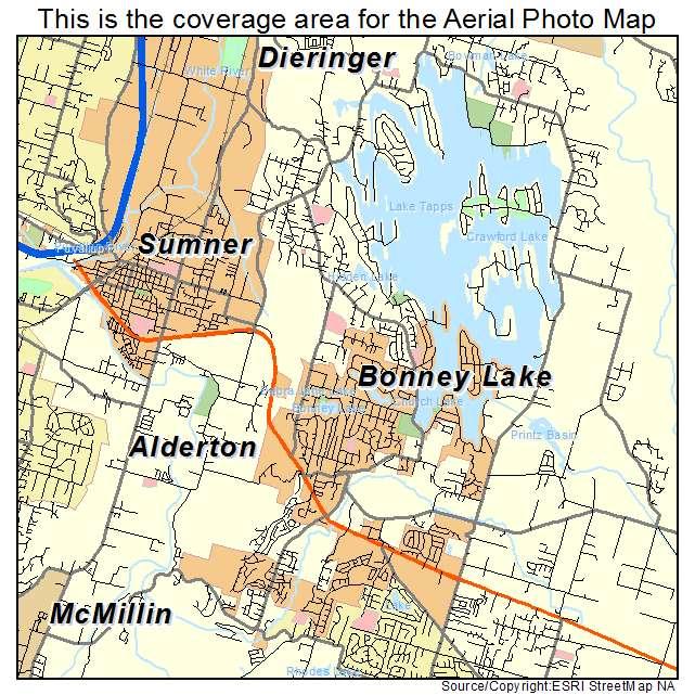 Aerial Photography Map of Bonney Lake, WA Washington