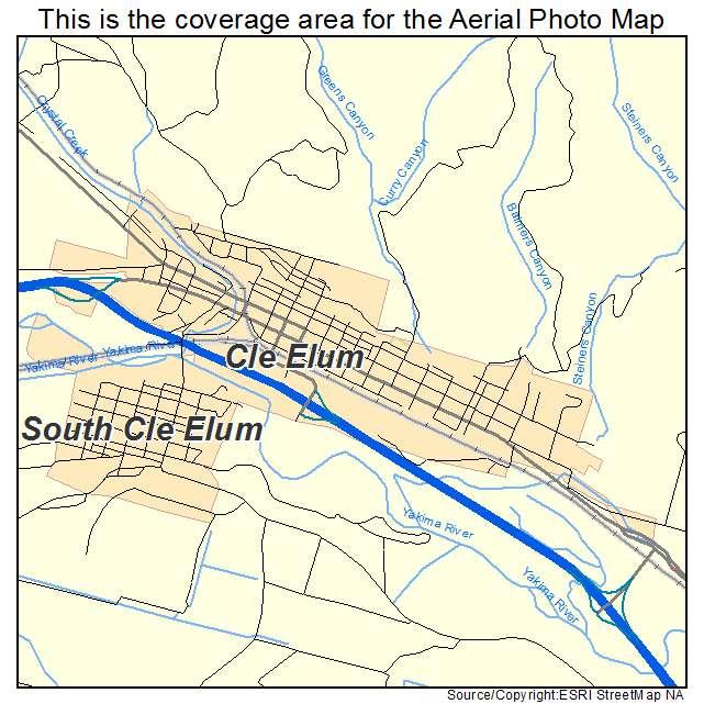 Aerial Photography Map Of Cle Elum Wa Washington