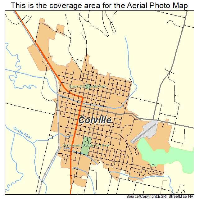 Aerial Photography Map Of Colville, WA Washington