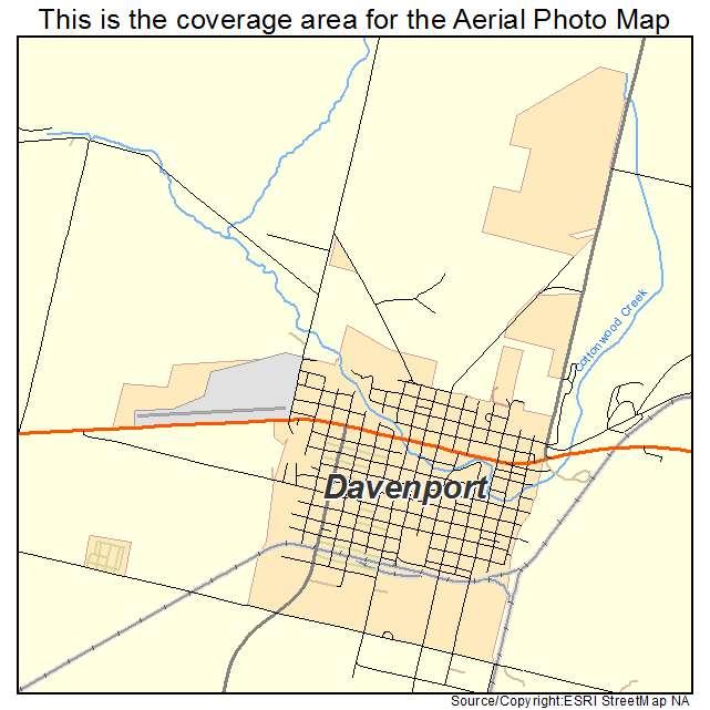 Davenport Washington Map.Aerial Photography Map Of Davenport Wa Washington