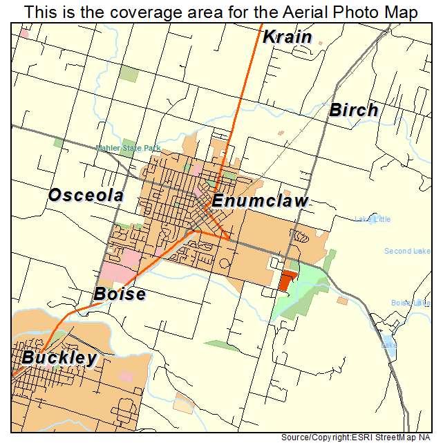 aerial photography map of enumclaw wa washington