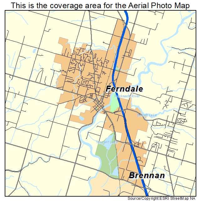 Ferndale Washington Map.Aerial Photography Map Of Ferndale Wa Washington
