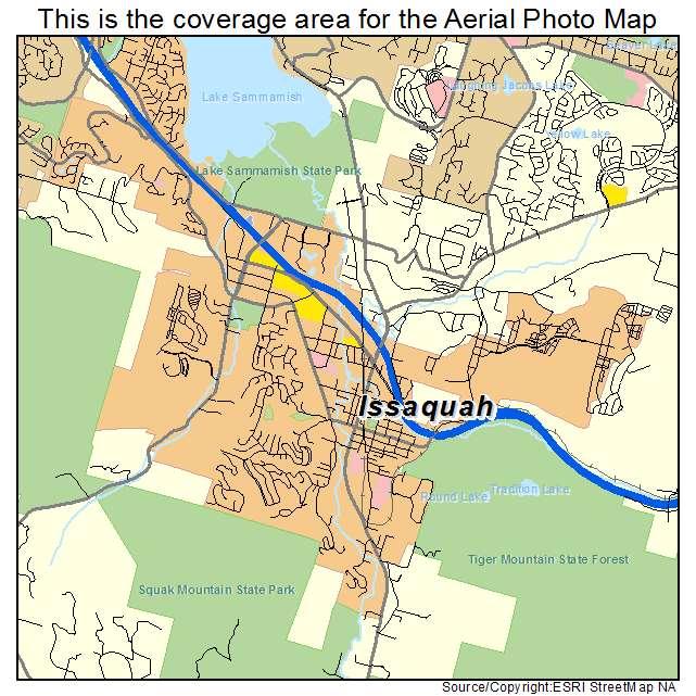 Aerial Photography Map Of Issaquah Wa Washington