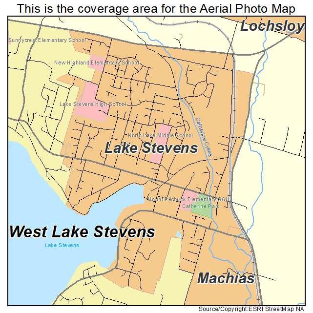 Lake Stevens Washington Map.Aerial Photography Map Of Lake Stevens Wa Washington