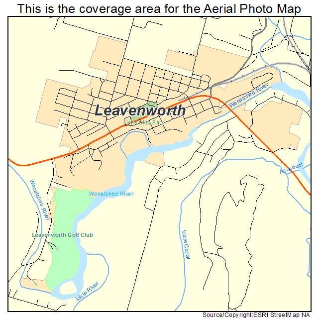 Leavenworth, WA location map