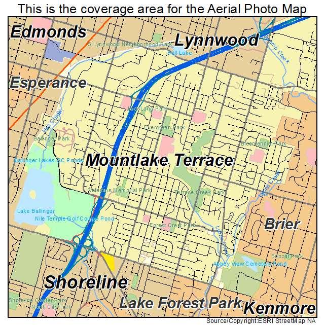 Aerial photography map of mountlake terrace wa washington for Terrace view map