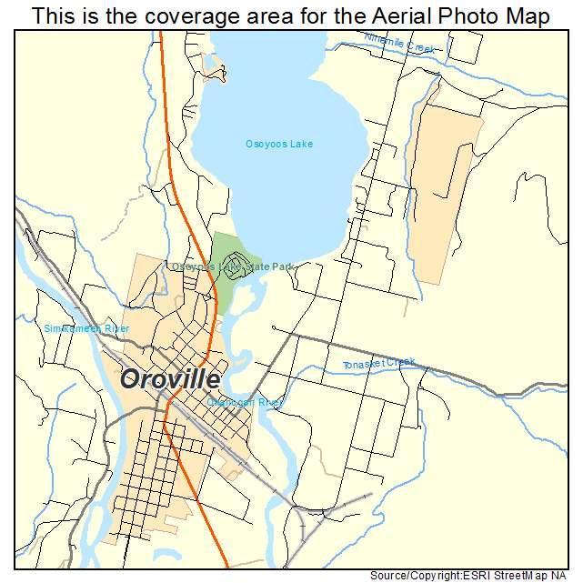 Aerial Photography Map of Oroville, WA Washington