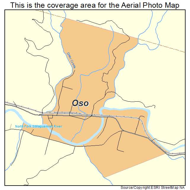 Oso, WA location map
