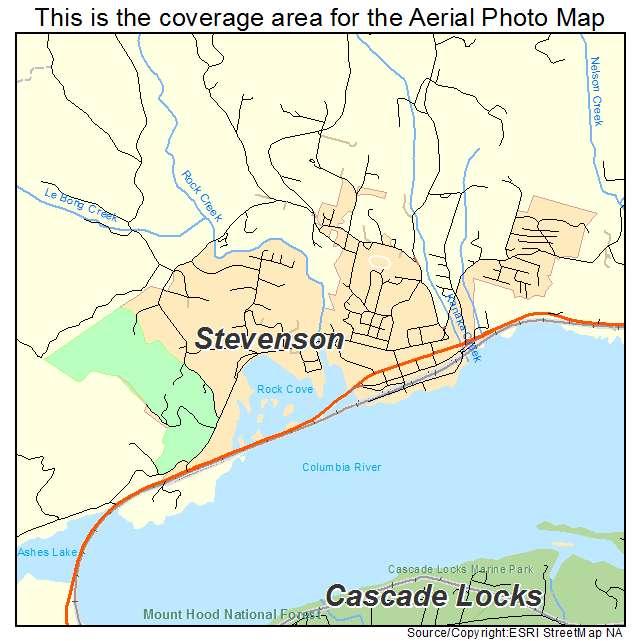 Aerial Photography Map Of Stevenson Wa Washington