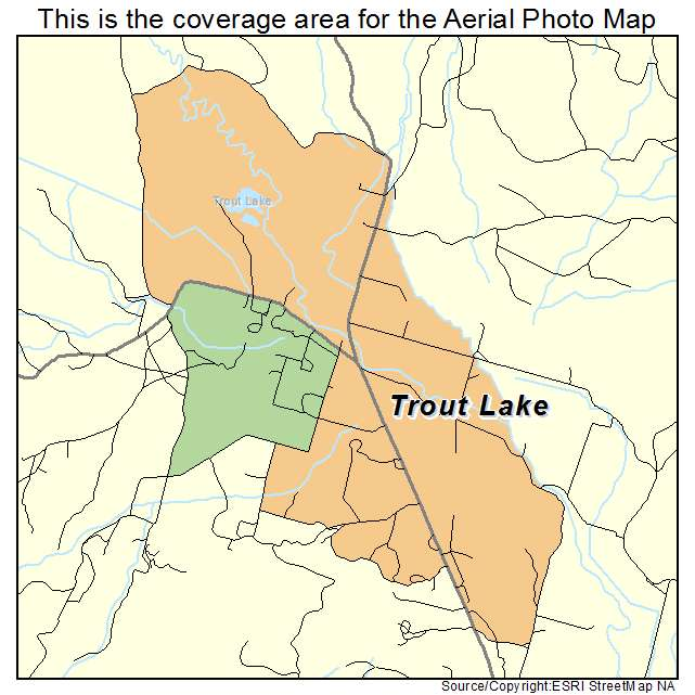 Aerial Photography Map Of Trout Lake Wa Washington