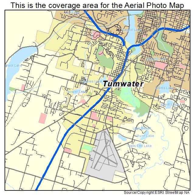 Aerial Photography Map of Tumwater WA Washington