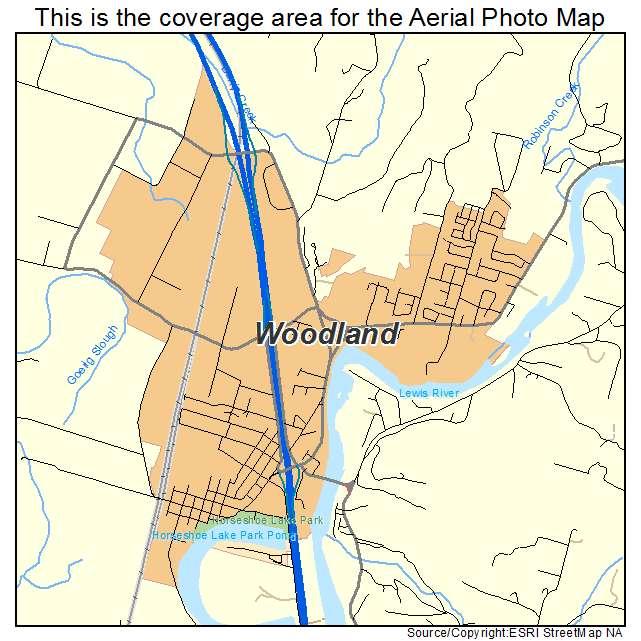 Aerial Photography Map Of Woodland Wa Washington
