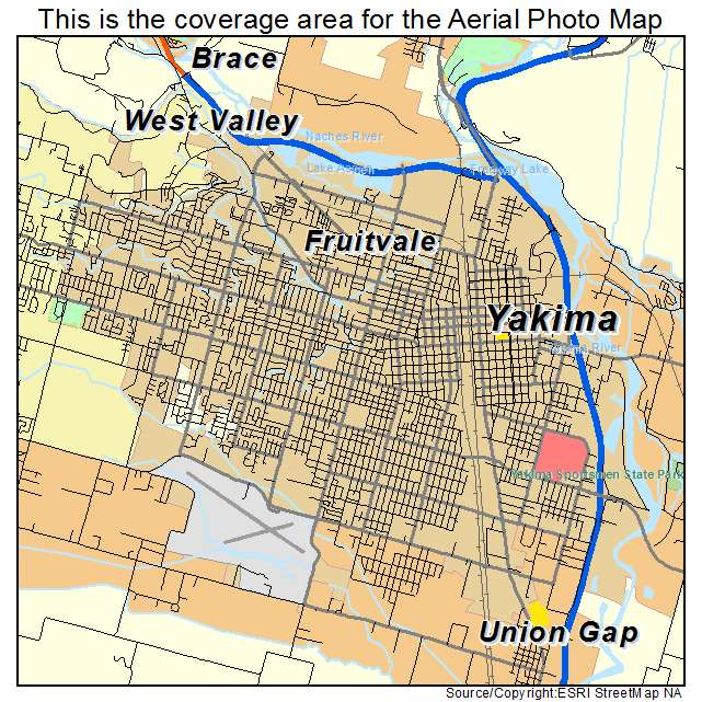 Yakima, WA Washington Aerial Photography Map 2015 on the nez perce map, yakama vally map, whidbey island map, bremerton map, mossyrock map, cowiche map, hood canal map, wenatchee map, elwha map, chelan butte map, tri-cities map, mount rainier national park map, walla walla map, camano map, austin map, moses lake map, king county map, washington map, north cascades national park map, desert aire map,