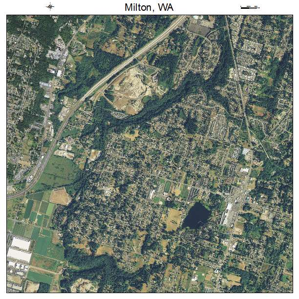 Milton, WA air photo map