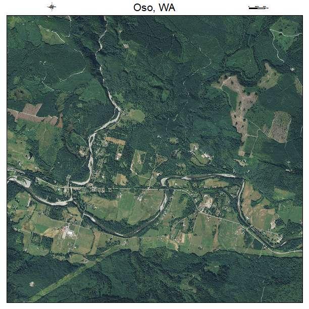 Oso, WA air photo map