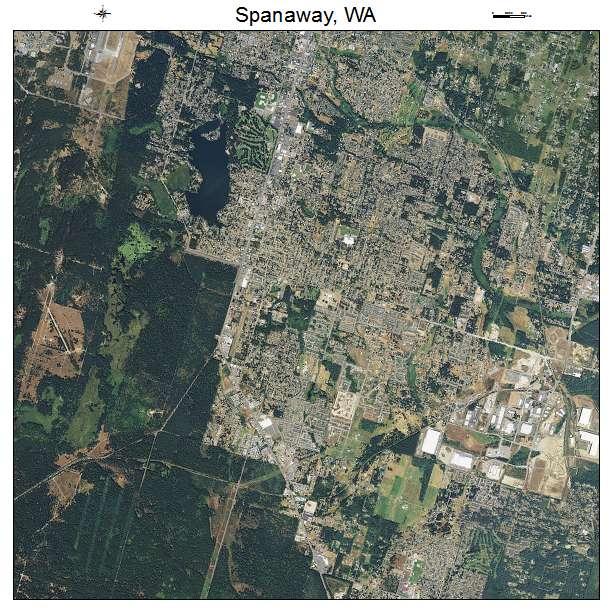 Aerial Photography Map Of Spanaway Wa Washington