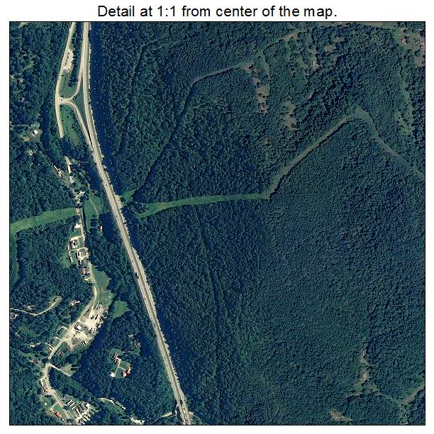 Sissonville, West Virginia aerial imagery detail