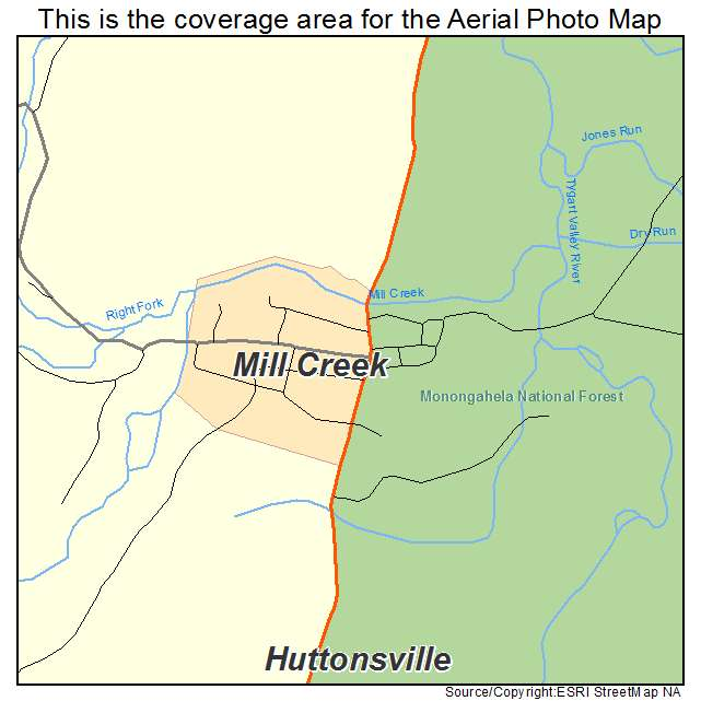 Mill Creek Town Center: Aerial Photography Map Of Mill Creek, WV West Virginia
