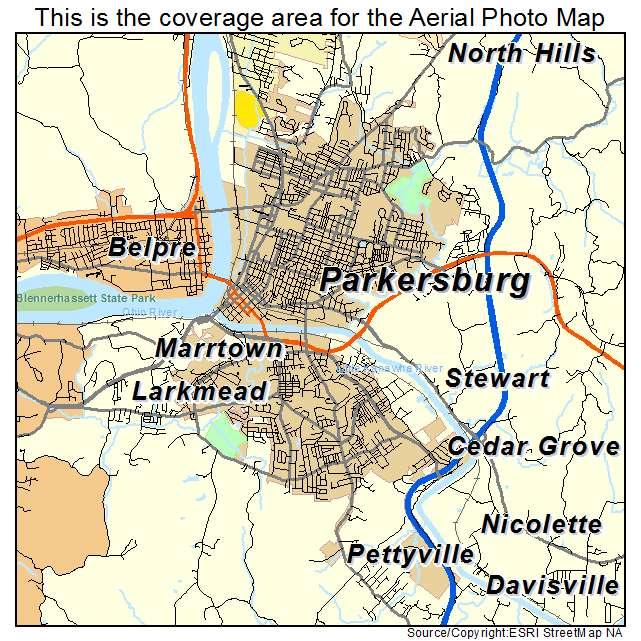 Parkersburg West Virginia Map.Aerial Photography Map Of Parkersburg Wv West Virginia