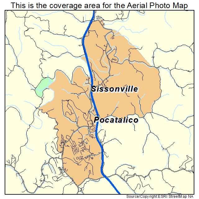 Sissonville, WV location map
