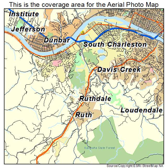 Aerial Photography Map of South Charleston, WV West Virginia on