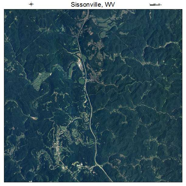 Sissonville, WV air photo map