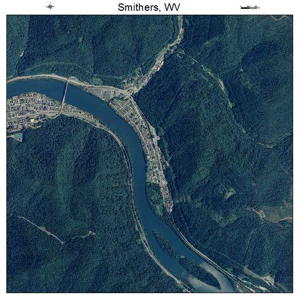 Smithers, WV air photo map