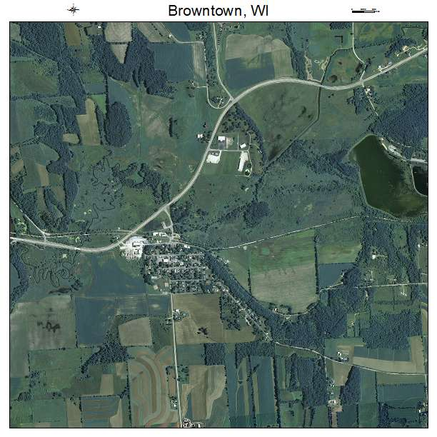 Aerial Photography Map Of Browntown  Wi Wisconsin