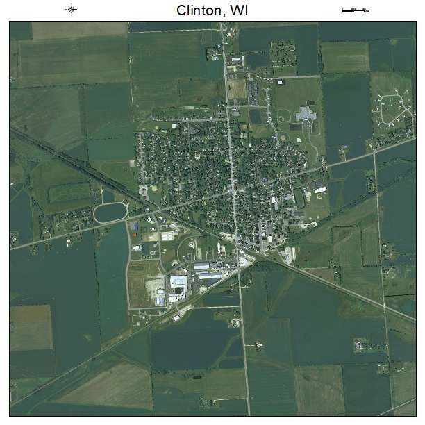 Aerial Photography Map Of Clinton Wi Wisconsin