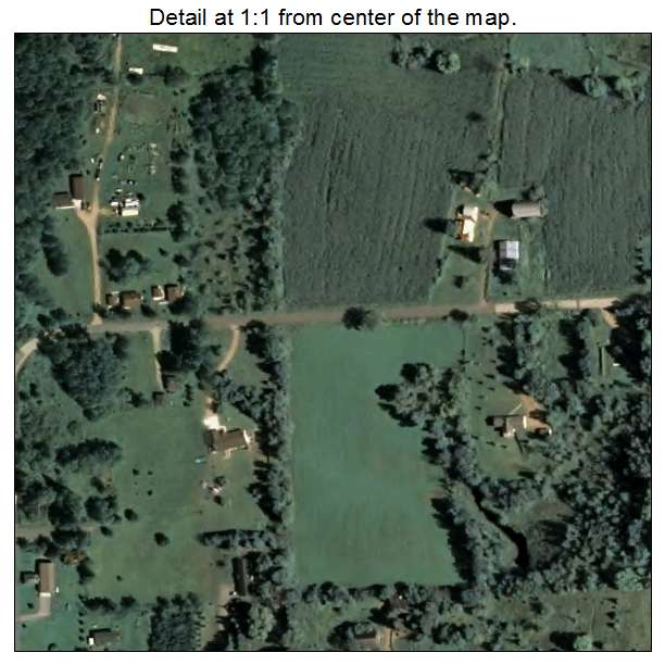 Aerial Photography Map Of Aniwa  Wi Wisconsin