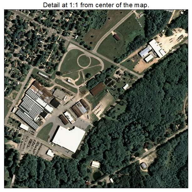 Aerial Photography Map Of Clintonville  Wi Wisconsin