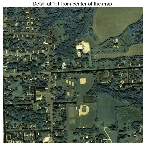 Aerial Photography Map Of Ellsworth  Wi Wisconsin
