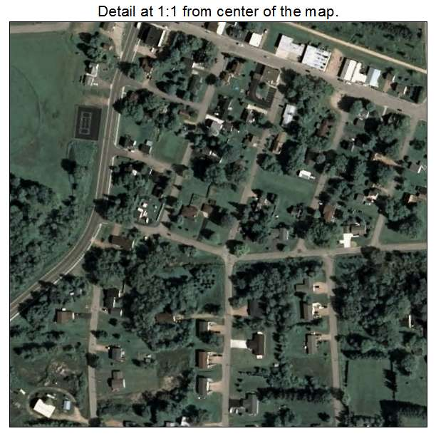 Hatley, Wisconsin aerial imagery detail