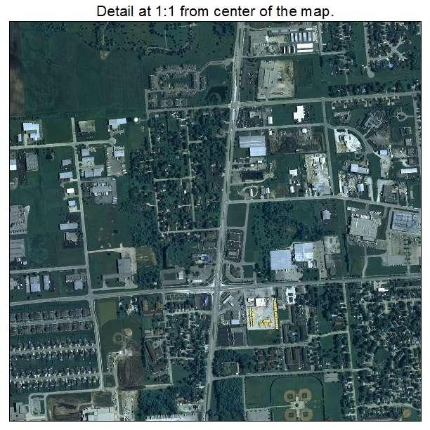 Aerial Photography Map of Kenosha, WI Wisconsin