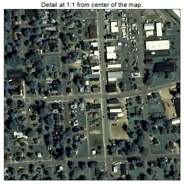 Aerial Photography Map Of Loyal  Wi Wisconsin