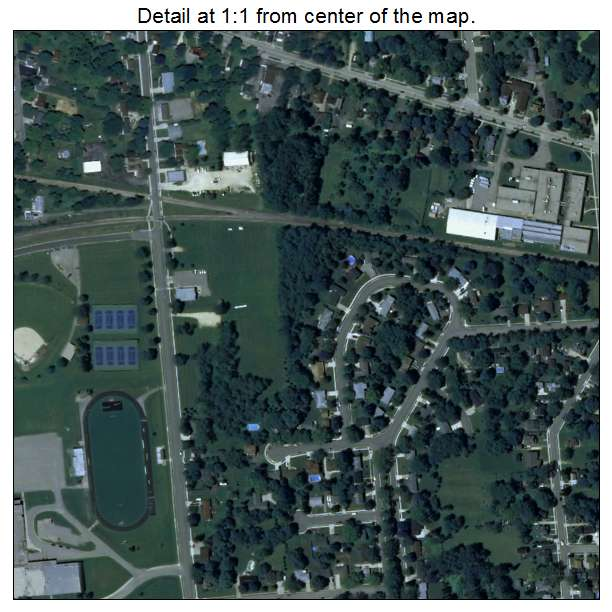 Aerial Photography Map Of Milton  Wi Wisconsin