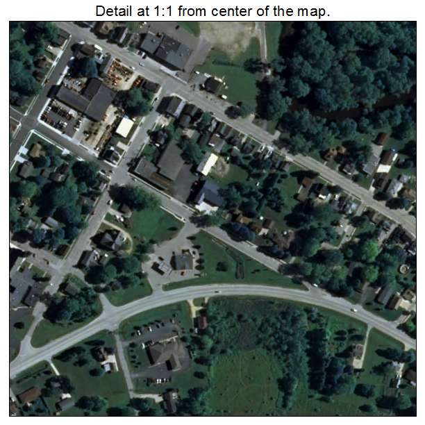 Aerial Photography Map Of Newburg  Wi Wisconsin